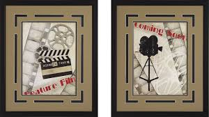 and framed theater wall art pair
