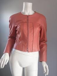 chanel pink leather jacket spring summer 1999 rare vintage runway piece in excellent condition for