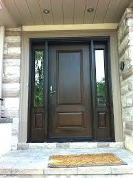 wood grain fiberglass door with 2 side installed by front entry doors in fibreglass this stained fiberglass door