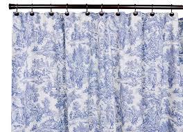 com victoria park toile bathroom shower curtain blue home kitchen