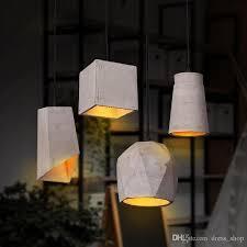 Industrial lighting fixtures Caged Nordic Rustic Cement Led Pendant Lights Loft Style Lampe Vintage Industrial Lighting Fixtures Retro Hanging Light Lampen Lampara Lighting Pendants Bronze Lowes Nordic Rustic Cement Led Pendant Lights Loft Style Lampe Vintage