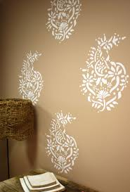 paisley pattern cool wall painting designs