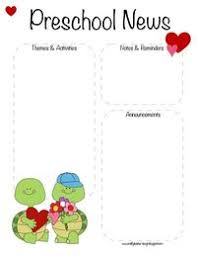 February Newsletter Template Posts Similar To Preschool Newsletter Template The Crafty