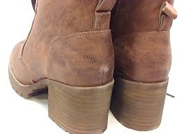 Details About Steve Madden Womens Command Suede Round Toe Ankle Combat Boots Tan Size 6 0 Sl