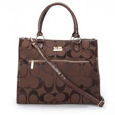 Coach In Signature Large Coffee Totes APF