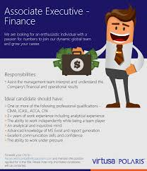 associate executive finance a job that matters job description