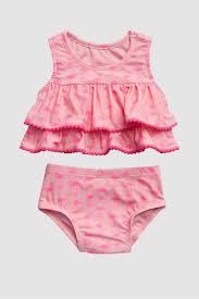 Shop Pink Gap Ruffle Swim Two Piece For Kids Nisnass Kuwait