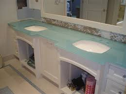 back painted glass countertop for bathroom vanity