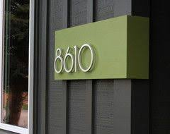 Find this Pin and more on Do it yourself. 10 Bold Ideas for Modern House  Numbers
