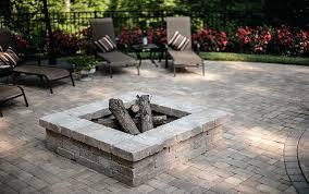 patio fire pit kit square square fire pit kit round paver fire pit kit
