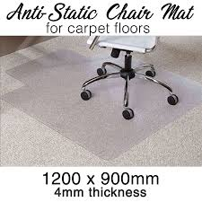 dels about office chair mat carpet puter safe anti static 1200mm x 900mm x 4mm