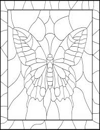 Stained Glass Butterfly Coloring Pages