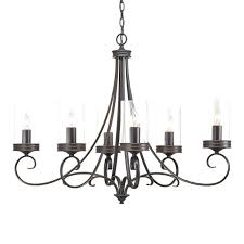 large candle chandelier display reviews for in 6 light bronze clear glass sleeves