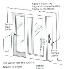 sliding patio door spare parts gerkin windows doors 4400