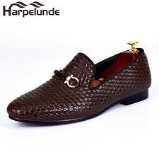 <b>Harpelunde</b> Woven Leather <b>Men Wedding Shoes</b> Buckle ...