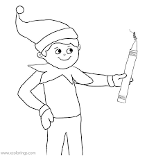 Year round north pole fun from. Elf On The Shelf Coloring Pages Wordsworth Is Playing Fireworks Xcolorings Com