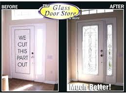 sidelight door glass replacement entry inserts front cost broken window repair um size of in