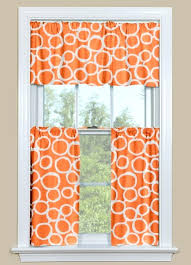 orange check kitchen curtains orange kitchen curtains kitchen curtain valance and tier pair with geometric design
