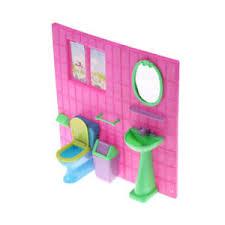 barbie doll house furniture sets. Image Is Loading 1-6-Plastic-Bathroom-Toilet-Sink-Mirror-Set- Barbie Doll House Furniture Sets S
