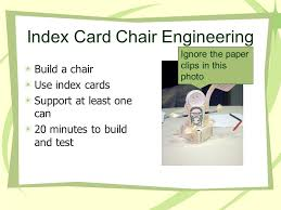 Make Index Cards Index Card Chair Engineering Ppt Download