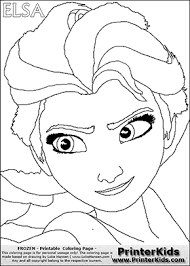Small Picture Coloring page with ELSA from the 2013 movie by DISNEY PIXAR called