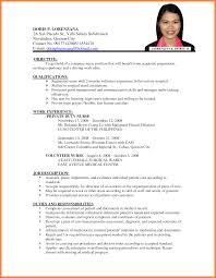 Sample Of Resume For Job Sample Resume For Philippine Government