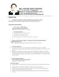 Call Center Resume Resume Examples For Call Center Customer Service Simple Example Of A Call Center Resume