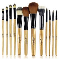 zodaca 12 piece professional cosmetic makeup brushes set with black brown leopard pouch bag on orders over 45 overstock 17150166