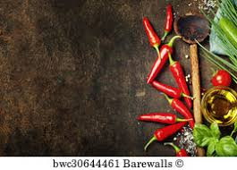 chili cook off background. Plain Off Chili Cook Off Art Print Poster  Wooden Spoon And Ingredients On Old  Background For B