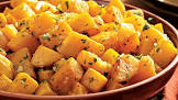 baked acorn or butternut squash with orange garlic   parsley