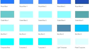 Aqua Color Chart Teal Color Chart Readthisthing Co