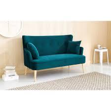 Stylish Sofas Petrol Blue 2 Seater Velvet Sofa Living Rooms Kitchens And Room