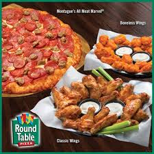 round table pizza round out your meal with classic or boneless wings