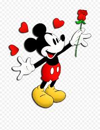 Mickey Mouse And Friends Png - Mickey Mouse With Rose Cartoon Minnie Mouse  Drawing - free transparent png images - pngaaa.com