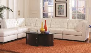 Orange Rug Living Room Decorating With White Leather Furniture Cool Pop Raised Round