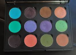 coastal scents eyeshadow palette filled with makeup geek eyeshadow