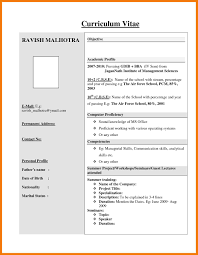 Ideas Collection Format For Resume For Freshers Perfect B Pharmacy