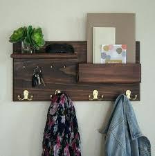 wall mounted mail organizer and key rack entryway organizer coat rack mail holder key hooks wall