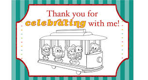Daniel Tigers Neighborhood Party Thank You Coloring Card Pbs Parents