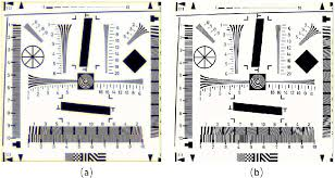 Iso Chart 12233 Standard Iso 12233 Charts Of A The Simulated Image And B