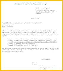 First Shareholder Meeting Minutes Template Notice Of Example
