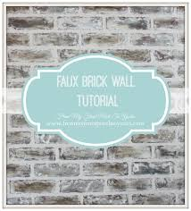 brick painting ideasFrom My Front Porch To Yours DIY Faux Brick Wall Tutorial Using