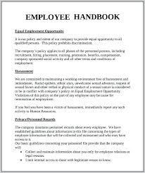 Employee Handbook Template Word Microsoft Free Mklaw