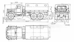 Free Truck Blueprint Kraz 255b 3