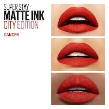 Maybelline 24 Hour Lipstick Color Chart Maybelline Superstay Matte Ink City Edition Liquid Lipstick