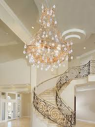 staircase gold chandelier ct3300l12 in interior