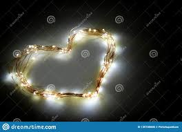 Twinkle Lights Pictures Heart Shape Made From Twinkle Lights On Black Background