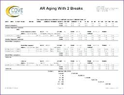 Schedule Of Accounts Receivable Template Accounts Receivable Aging Report Example Template Payable