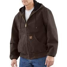 Carhartt Men's Sandstone Duck Active Jacket - Quilted Flannel ... & Carhartt Men's Sandstone Duck Active Jacket – Quilted Flannel Lined J130 Adamdwight.com