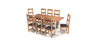 extending dining table sets. Rustic Oak 132-198 Cm Extending Dining Table And 8 Chairs Sets I